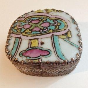 Other - Antique Porcelain Vase Trinket Jewelry Box